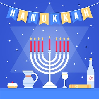 Hanukkah di design piatto