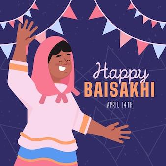 Baisakhi design piatto felice