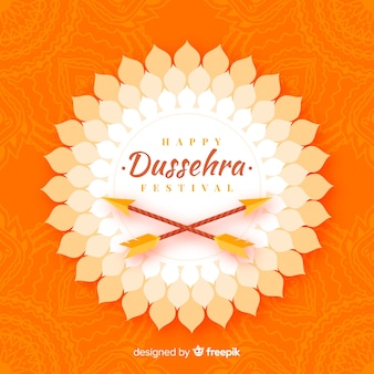 Flat design happy dussehra concept