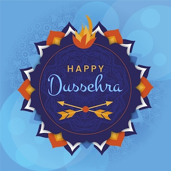 Flat design happy dussehra