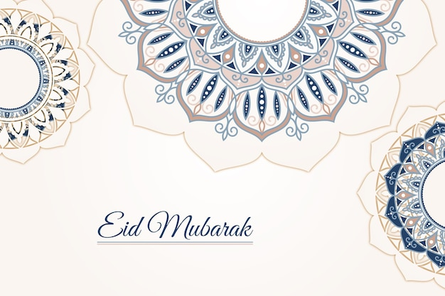 Flat design happy eid mubarak abstract design