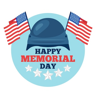 Design piatto felice memorial day