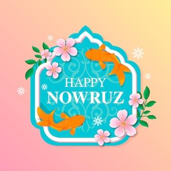 Flat design happy nowruz