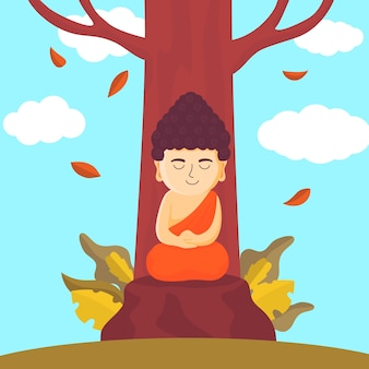 Flat design happy vesak concept