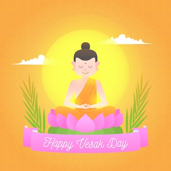 Design piatto felice vesak day