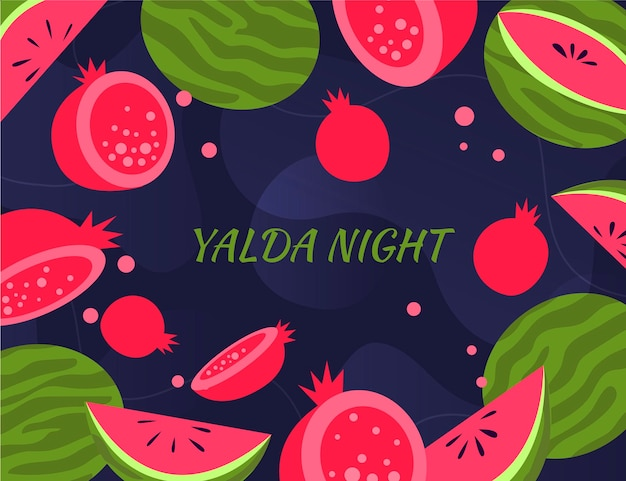 Flat design happy yalda background