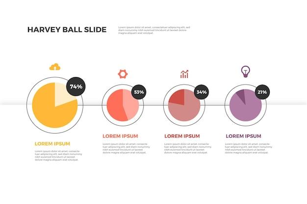 평면 디자인 하비 공 다이어그램 infographic