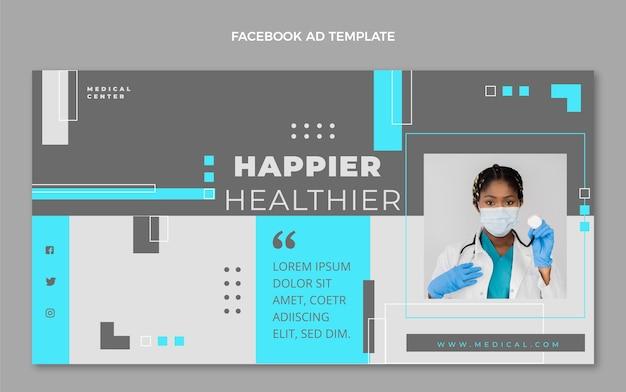 Flat design health facebook template