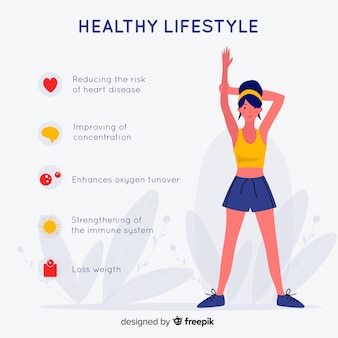 Flat design health infographic template