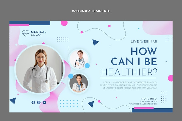 Вебинар по здравоохранению в плоском дизайне