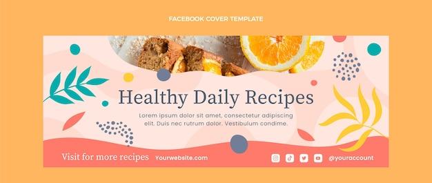 フラットデザイン健康食品フェイスブックカバー