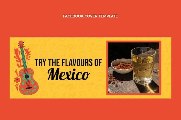 Copertina facebook cibo sano design piatto