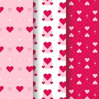 평면 디자인 하트 패턴 컬렉션
