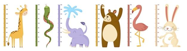 Набор для измерения высоты в плоском дизайне