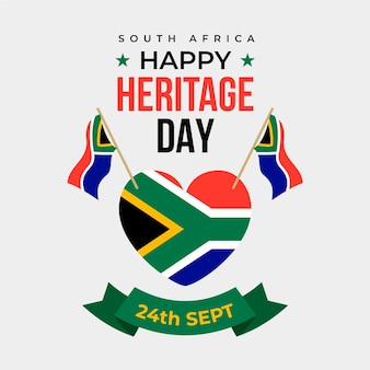 Flat design heritage day theme