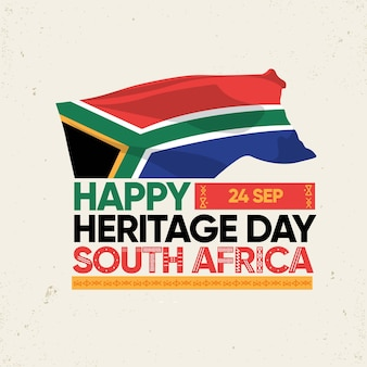 Flat design heritage day