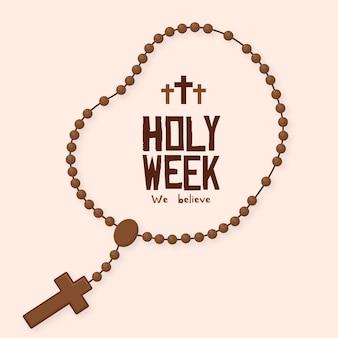 Flat design holy week concept