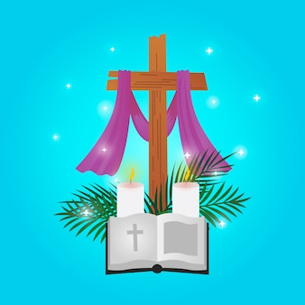 Design piatto stile settimana santa
