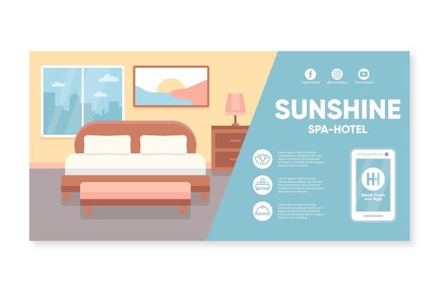 Flat design hotel banner template