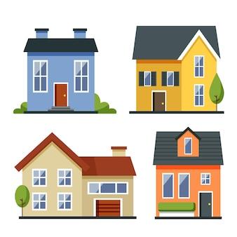 フラットなデザインの家コレクション