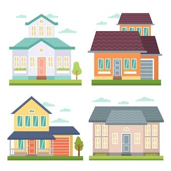 평면 디자인 하우스 컬렉션