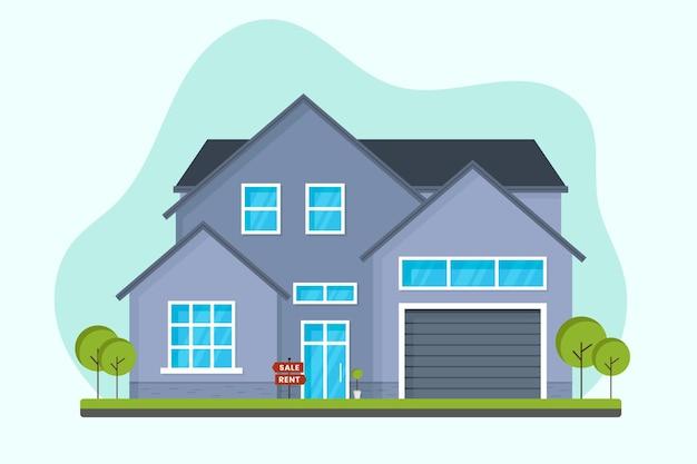 판매를위한 평면 디자인 하우스