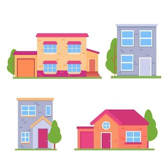 평면 디자인 하우스 일러스트 컬렉션