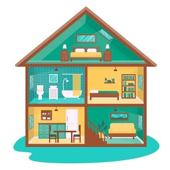 단면의 평면 디자인 하우스
