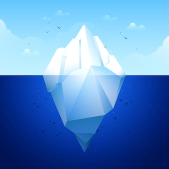 Flat design iceberg concept