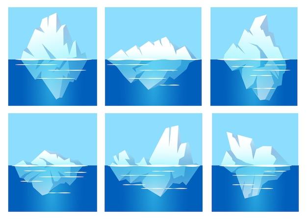 Confezione di iceberg design piatto