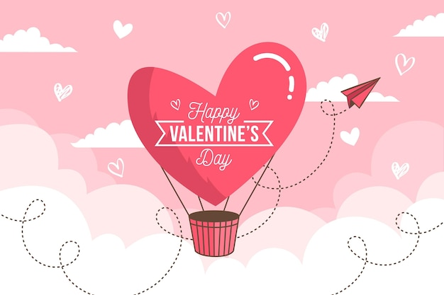 Flat design illustrated valentine's day background