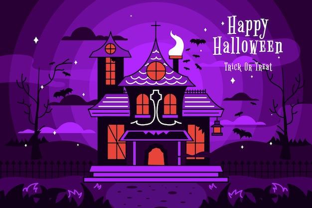 Casa di halloween illustrazione design piatto