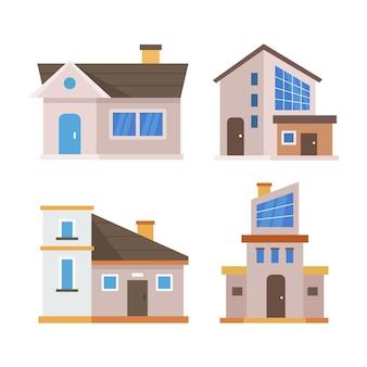 주택의 평면 디자인 일러스트