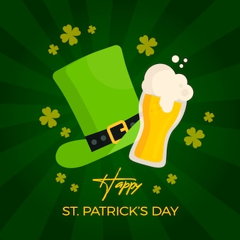 Flat design of image with st. patrick's day illustrations