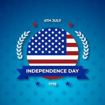 フラットなデザインの独立記念日のコンセプト