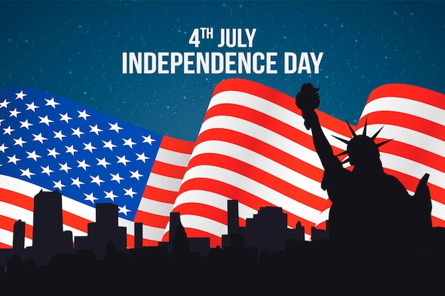 Flat design independence day concept