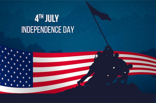 Flat design independence day design