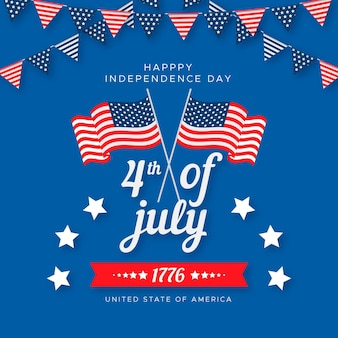 Flat design independence day