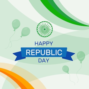 Flat design for india republic day event