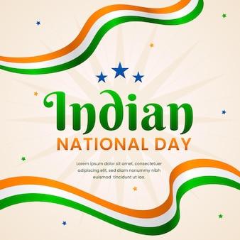 Flat design india republic day