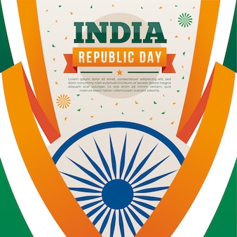 Flat design indian republic day concept
