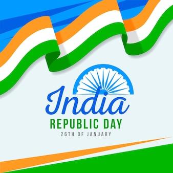 평면 디자인 인도 공화국 일 개념