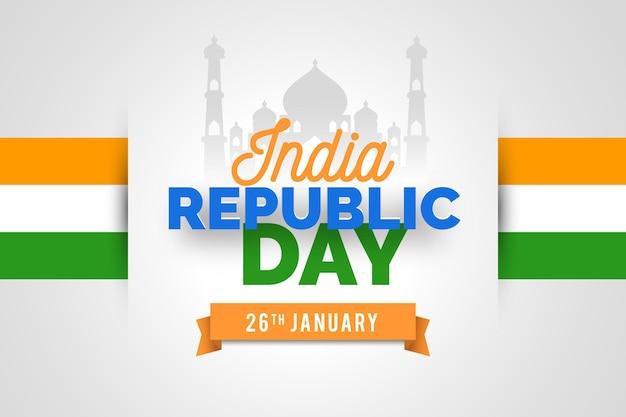 Flat design indian republic day