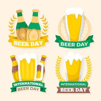 평면 디자인 국제 맥주의 날 배지 컬렉션