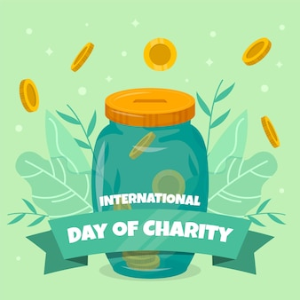 Flat design international day of charity background