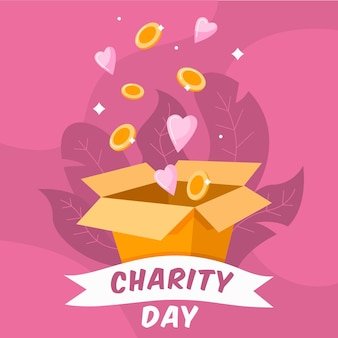 Flat design international day of charity