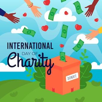 Design piatto giornata internazionale di beneficenza