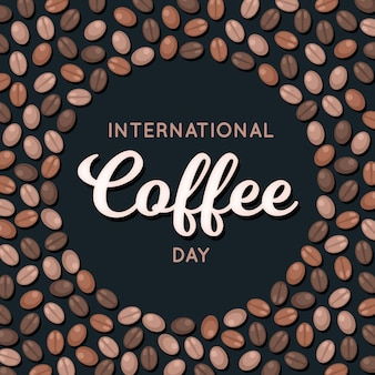 Flat design international day of coffee