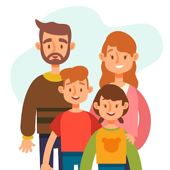Flat design international day of families concept