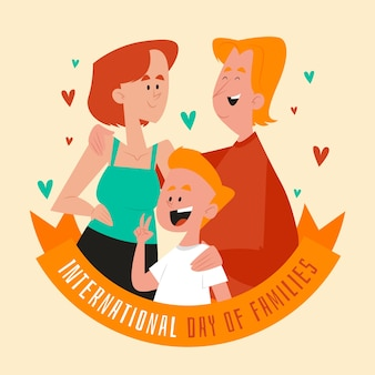 Flat design international day of families theme